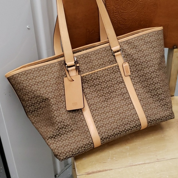 Coach Handbags - COACH signature XL travel bag. Rare style 77012